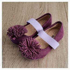 **2 for $14** New Purple Flats with Pompom